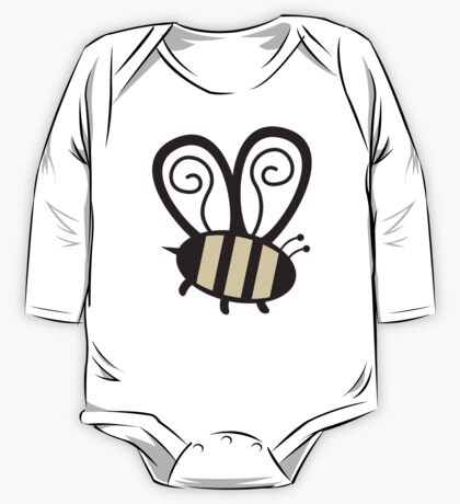 Giant cute bumble bee insect t-shirt One Piece - Long Sleeve