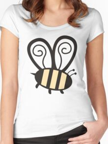 Giant cute bumble bee insect t-shirt Women's Fitted Scoop T-Shirt