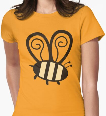 Giant cute bumble bee insect t-shirt Womens Fitted T-Shirt