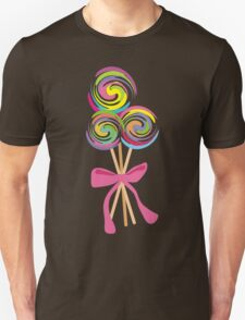 giant swirly lollipops candy bow t-shirt T-Shirt