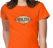 Grunge fabric swatches quilter quilting Womens Fitted T-Shirt