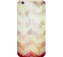 grunge chevron stripes red orange gold iPhone Case/Skin