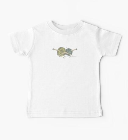 purls a girl's best friend funny knitting t-shirt Baby Tee