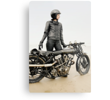 Brough Superior Racer on Pendine Sands Metal Print