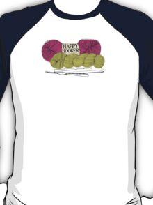 happy hooker crochet hook yarn hank skein T-Shirt