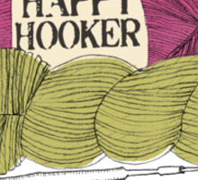 happy hooker crochet hook yarn hank skein Sticker