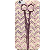 hair stylist scissors shears grunge galaxy pink chevron stripes iPhone Case/Skin