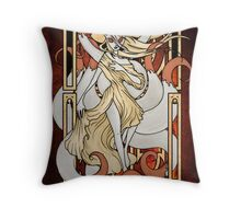 Rule 63: Ninetails Throw Pillow
