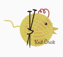 knitting needles knit chick ball of yarn Kids Clothes