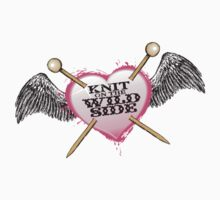 knit on the wild side knitting needles tattoo Kids Clothes