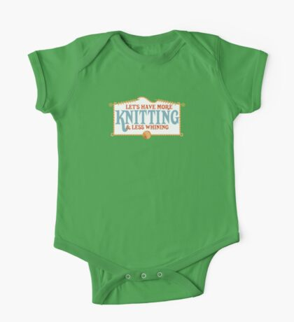 more knitting less whining knitting needles One Piece - Short Sleeve