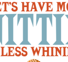 more knitting less whining knitting needles Sticker