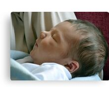 Meet Charlie, Our New Great Grandson Born 21st May 2013 at 11.50 pm Canvas Print