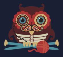 knitting needles owl paisley mustache steampunk skeleton One Piece - Long Sleeve