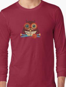 knitting needles owl paisley mustache steampunk skeleton Long Sleeve T-Shirt
