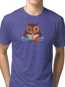 knitting needles owl paisley mustache steampunk skeleton Tri-blend T-Shirt