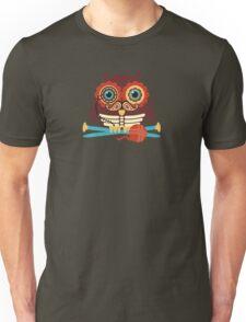 knitting needles owl paisley mustache steampunk skeleton Unisex T-Shirt