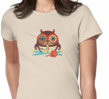 knitting needles owl paisley mustache steampunk skeleton Womens Fitted T-Shirt