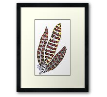 Glow Feathers Framed Print
