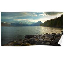 Mornings at Lake McDonald Poster