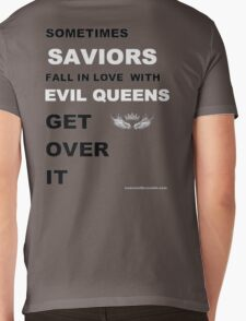 Sometimes Saviors fall in love with Evil Queens. Get Over It. Mens V-Neck T-Shirt