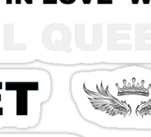 Sometimes Saviors fall in love with Evil Queens. Get Over It. Sticker