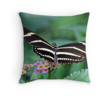 Zebra Longwing butterfly 2 Throw Pillow