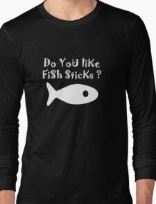 Iskybibblle Products Do you like Fish Sticks/White plain plus fish Long Sleeve T-Shirt