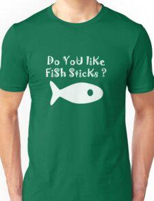 Iskybibblle Products Do you like Fish Sticks/White plain plus fish Unisex T-Shirt
