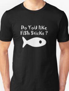 Iskybibblle Products Do you like Fish Sticks/White plain plus fish T-Shirt