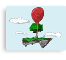 Floating Rock balloon Canvas Print
