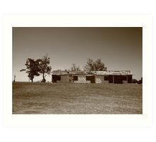 Route 66 - Abandoned Motel Art Print