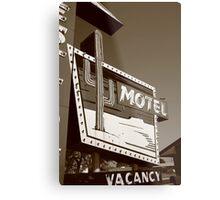 Route 66 - Western Motel Metal Print