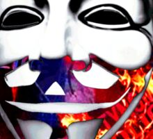 Che Guevarra Anonymous on fire Sticker