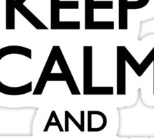 Dalek Keep Calm & Exterminate... Sticker