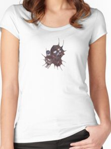S20130526 - Scribbled Dragon Mask Women's Fitted Scoop T-Shirt