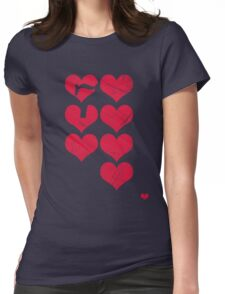 7 of Hearts - T-shirt 3.5 Womens Fitted T-Shirt