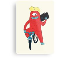 Cyclop monster on a bicycle Metal Print