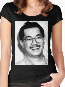 AKIRA TORIYAMA Portrait Design Women's Fitted Scoop T-Shirt