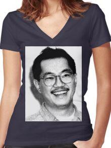 AKIRA TORIYAMA Portrait Design Women's Fitted V-Neck T-Shirt