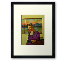 Expectant Mona Lisa Framed Print