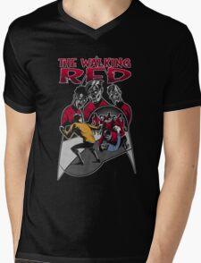 The Walking Red (Color Variant) Mens V-Neck T-Shirt