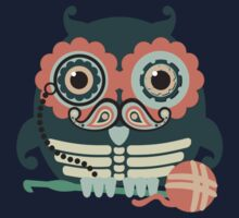 crochet hook owl paisley mustache steampunk skeleton One Piece - Short Sleeve
