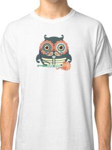 crochet hook owl paisley mustache steampunk skeleton Classic T-Shirt