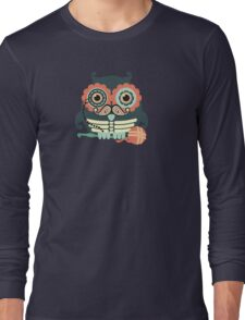crochet hook owl paisley mustache steampunk skeleton Long Sleeve T-Shirt