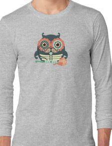 crochet hook owl paisley mustache steampunk skeleton Long Sleeve T-Shirt
