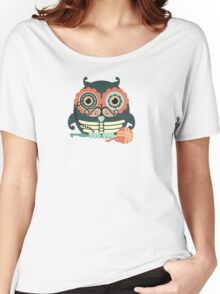 crochet hook owl paisley mustache steampunk skeleton Women's Relaxed Fit T-Shirt