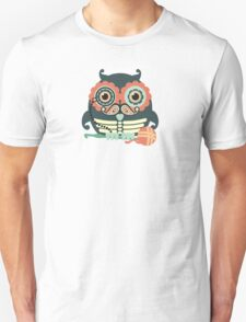 crochet hook owl paisley mustache steampunk skeleton T-Shirt