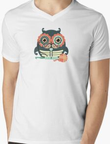 crochet hook owl paisley mustache steampunk skeleton Mens V-Neck T-Shirt