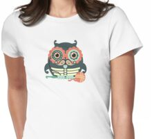 crochet hook owl paisley mustache steampunk skeleton Womens Fitted T-Shirt